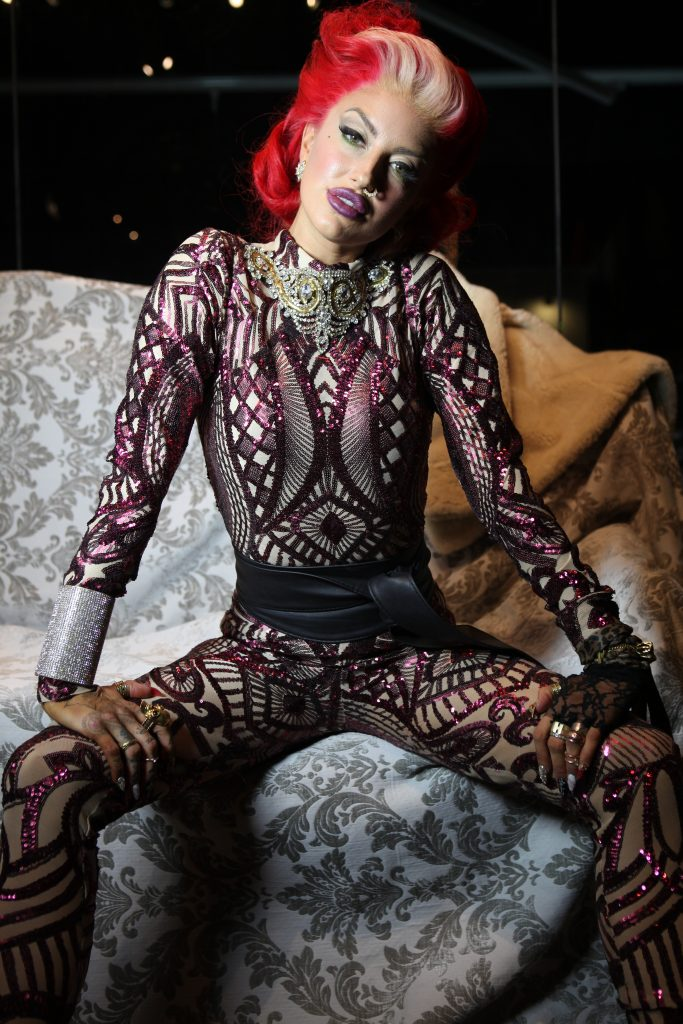 Neon Hitch Cosmo shoot LA